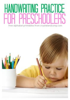 handwriting practice for preschool kids (includes free printables for each letter of the alphabet)
