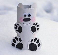 Winter christmas, christmas crafts, animal crafts for kids, toddler crafts Animal Crafts For Kids, Toddler Crafts, Kids Crafts, Arts And Crafts, Winter Art Projects, Diy Projects For Kids, Diy For Kids, Toilet Paper Roll Crafts, Diy Paper