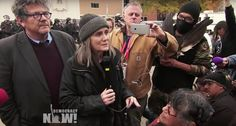 Garn Press supports Amy Goodman and the Indigenous People Standing Up and Standing Rock World News Video, Stand Up, Rock, People, Threading, Get Up, Skirt, Locks, The Rock