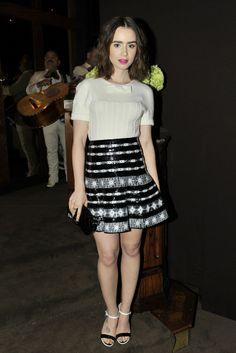 Lily Collins in Chanel. [Photo by Donato Sardella]