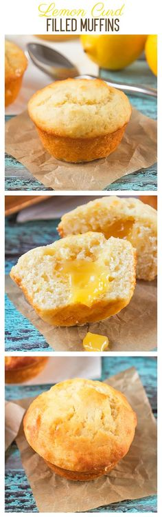 Lemon Curd Filled Muffins | Annie's Noms