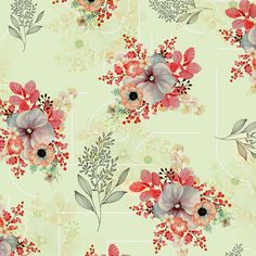 Pattern Floral Textile images | Photos, videos, logos, illustrations and branding on Behance Flower Pattern Design, Pattern Art, Flower Patterns, Flower Designs, Flower Background Wallpaper, Flower Backgrounds, Textile Prints, Textile Design, Leaf Wall Art