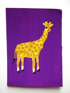 Hey, I found this really awesome Etsy listing at https://www.etsy.com/listing/236465449/purple-giraffe-87-artist-trading-cards