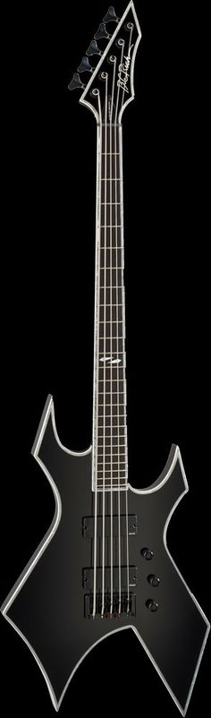 B.C. Rich Warlock NJ Deluxe 5 String Bass Guitar More