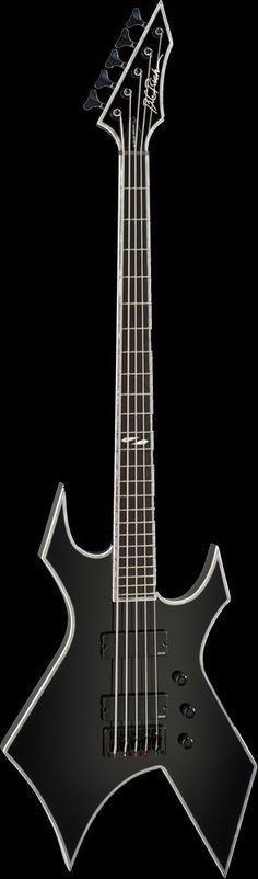 B.C. Rich Warlock NJ Deluxe 5 String Bass Guitar