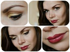 Summer Makeup Look - Golden Eyes and Chocolate Brown lips