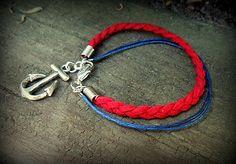 havranka / Námornícky náramok Diy Jewelry, Handmade Jewelry, Bracelets, Fashion, Moda, Handmade Jewellery, Fashion Styles, Jewellery Making, Bracelet