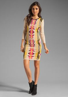 ALICE BY TEMPERLEY Santos Fitted Knit Dress in Cream Mix at Revolve Clothing - Free Shipping!