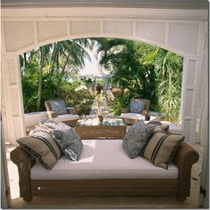 Rothschild home in Barbados ~ love the trellis work ~