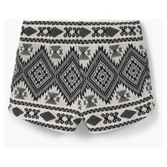 MANGO Cotton Jacquard Shorts (€45) ❤ liked on Polyvore featuring shorts, bottoms, zipper shorts and mango shorts