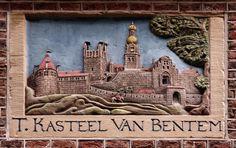 VVAG .. Gevelsteen T KASTEEL VAN BENTEM, Sint Jacobsstraat 40 Amsterdam