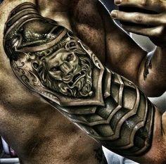 Sleeve Lion Tattoo - http://giantfreakintattoo.com/sleeve-lion-tattoo/
