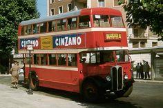 Trams in #Barcelona, 1956