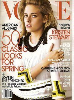 Vogue, KRISTEN STEWART,TWILIGHT, Arizona Muse, Kate Middleton, February 2011~NEW