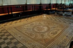 The famous Dolphin mosaic - image at Fishbourne Roman Palace
