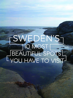 Next trip: Sweden! Sweden& 10 Most Beautiful Spots You Have To Visit Voyage Suede, Places To Travel, Places To Go, Europe Places, Visit Sweden, Sweden Places To Visit, Sweden Travel, Reisen In Europa, Voyage Europe