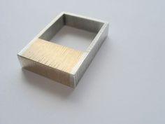 artist: HANNA IND-PL - Ring I - sterling silver & brass Handmade ring: brass / silver 925