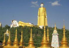Buddha statue near Monywa, Sagaing region, Myanmar - second tallest statue in the world