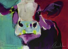 Cow Art, Animal Paintings, Cows, Colorful, Animals, Ideas, Art, Creative, Animales