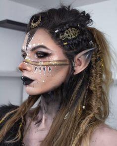Viking Cosplay, Elf Cosplay, Cosplay Makeup, Costume Makeup, Cosplay Wigs, Elf Makeup, Makeup Art, Viking Makeup, Drag Wigs