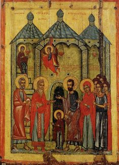 The Presentation in the Temple School or cultural centre: Novgorod century 91 × 66 cm The Russian Museum, Saint Petersburg, Russia Byzantine Art, Byzantine Icons, Religious Icons, Religious Art, Religious Images, Statues, Saint Gregory, Religion Catolica, Russian Icons