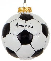 Soccer Ball Shot Glass Personalized with name under the Ball