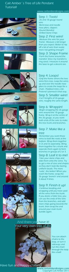 Tree of Life Pendant Tutorial by Cait Amber Designs