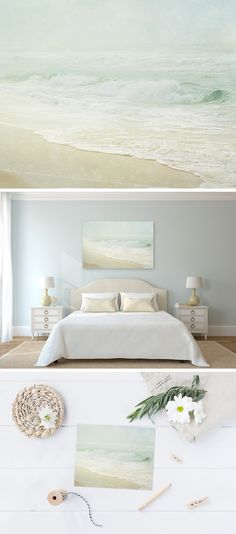 Love the chill of the picture in the room. Wrap yourself in the comfort of the coast with this restful best selling beach print. This lovely foggy beach photo will add the perfect touch of soothing comfort to your coastal home décor! Decor, Cottage Style, Cottage Decor, Beach Interior Design, Beach Cottages, Home Decor, Bedroom Decor, Coastal Bedrooms, Beach Cottage Decor