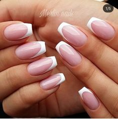 French Manicure Acrylic Nails, French Tip Nails, Stylish Nails, Trendy Nails, Perfect Nails, Gorgeous Nails, Plaid Nails, Luxury Nails, Square Nails