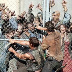 The Walking Dead ...Walkers or Black Friday shoppers? Which group is scarier?