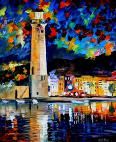 Lighthouse In Crete — PALETTE KNIFE Architecture