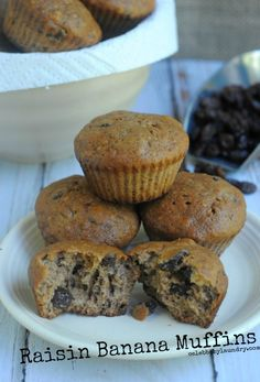 Get Ready For Cooler Weather With Raisin Banana Muffins #Recipe   Celeb Baby Laundry