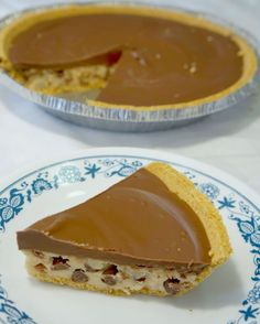 Chocolate Chip Cookie Dough Pie - This is Not Diet Food