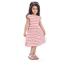 Flower Girl Girls Dress, White/Peach - Girls Clothing | Shop Baby & Kids Clothes Online in Dubai, Abu Dhabi, Sharjah, UAE - Smart Baby