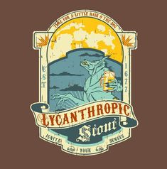 Steve Thomas [Illustration]: Lycanthropic Stout beer label