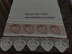 Resultado de imagem para barrados croche toalhas