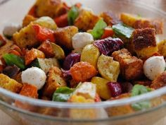 Get Roasted Vegetable Panzanella Recipe from Food Network