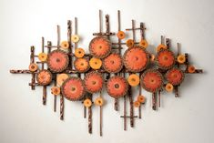 An eye catching wall sculpture that can be hung horizontally or vertically Ripples in Oranges by Hannie Goldgewicht Mixed-Media Wall Sculpture available at Home Crafts, Diy And Crafts, Paper Crafts, Sculpture Clay, Wall Sculptures, Abstract Sculpture, Bronze Sculpture, Media Wall, Home And Deco