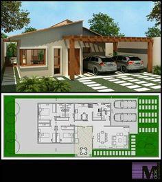 64 Ideas for garden house plans garage Dream House Plans, Modern House Plans, Small House Plans, Modern House Design, House Floor Plans, My Dream Home, Villa Design, Building Plans, Building A House