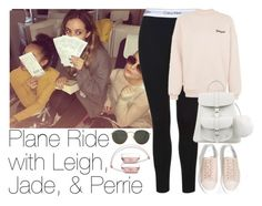"""Plane Ride with Leigh, Jade, & Perrie"" by zarryalmighty ❤ liked on Polyvore featuring Axel, Calvin Klein, Topshop, Grafea, Ray-Ban and littlemix"