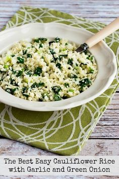Cauliflower Rice has been trendy for a few years now, and this Easy Cauliflower Rice with Garlic and Green Onion is the one I find myself making over and over. And my favorite cauliflower rice is low-carb, Keto, low-glycemic, gluten-free, dairy-free, Paleo, Whole 30, vegan, and South Beach Diet friendly, so it's perfect for everyone! Use the Recipes-by-Diet-Type …