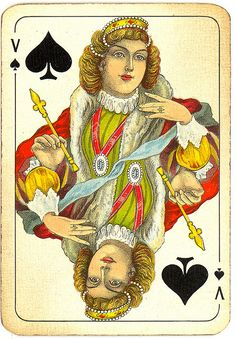 Dutch playing cards from 1920-1927: Queen of Spades | Flickr - Photo Sharing!