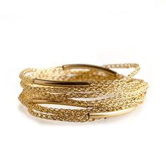 Gold BOHO Wrap Layered Bracelet | YooLa