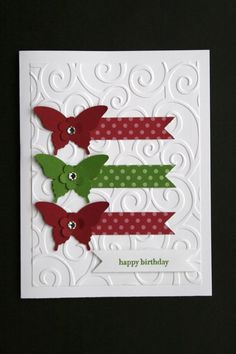 """Card Kit-Elegant Butterflies """"Teeny Tiny Wishes"""" All Occasion w/ Stampin Up prod"""