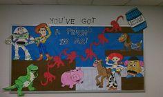 Arts And Crafts Beads Info: 9710489349 Disney Classroom, Classroom Board, Classroom Displays, Kindergarten Classroom, Classroom Themes, Classroom Activities, Toy Story Decorations, School Decorations, School Themes