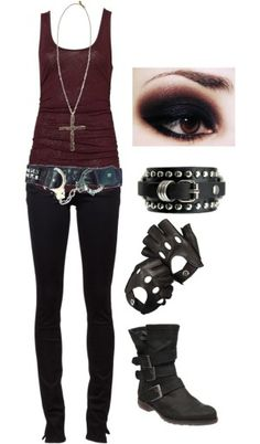 Cute just out to go punk/emo/scene/gothic/idk cx outfit