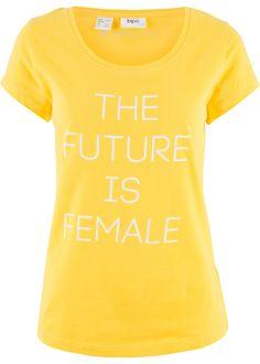 T-shirt manches courtes à imprimé jaune tulipe imprimé - Femme - bpc bonprix collection - bonprix.fr