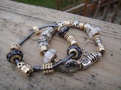 Fabulously stunning! Love the mix of silver, oxidized silver and gold! ~ PandoraMOA