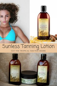 Our Sunless Tanner range is made with fresh ingredients from nature & will give you the dark tan you desire with just 1-2 applications. No more harmful sun-rays are needed to get a beautiful tan.