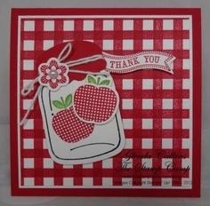 Faux Gingham by Glenda Calkins - Cards and Paper Crafts at Splitcoaststampers